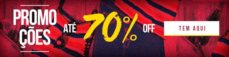 Descontos de 70%