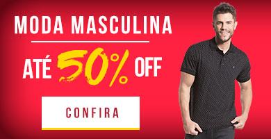 Moda masculina até 50%