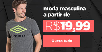 Moda masculina em oferta