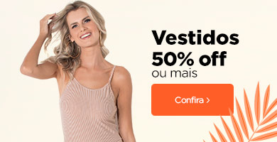 Vestidos 50% OFF ou mais