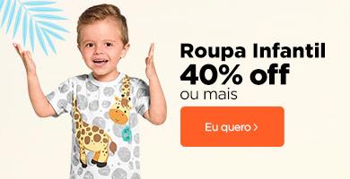 Infantil 40% OFF ou mais