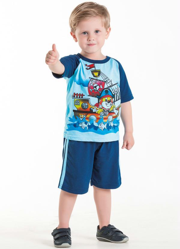 Moda Pop - Conjunto Infantil Menino Azul