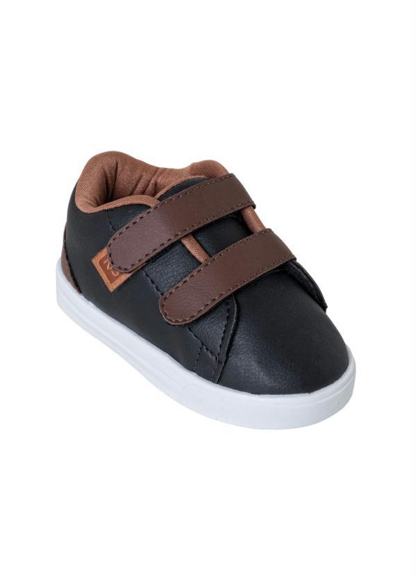 Perfecta - Tênis Infantil Preto com Velcro