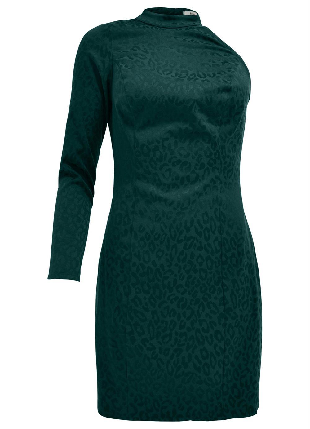 23b860e2be Vestido de um Ombro Só Verde - bonprix