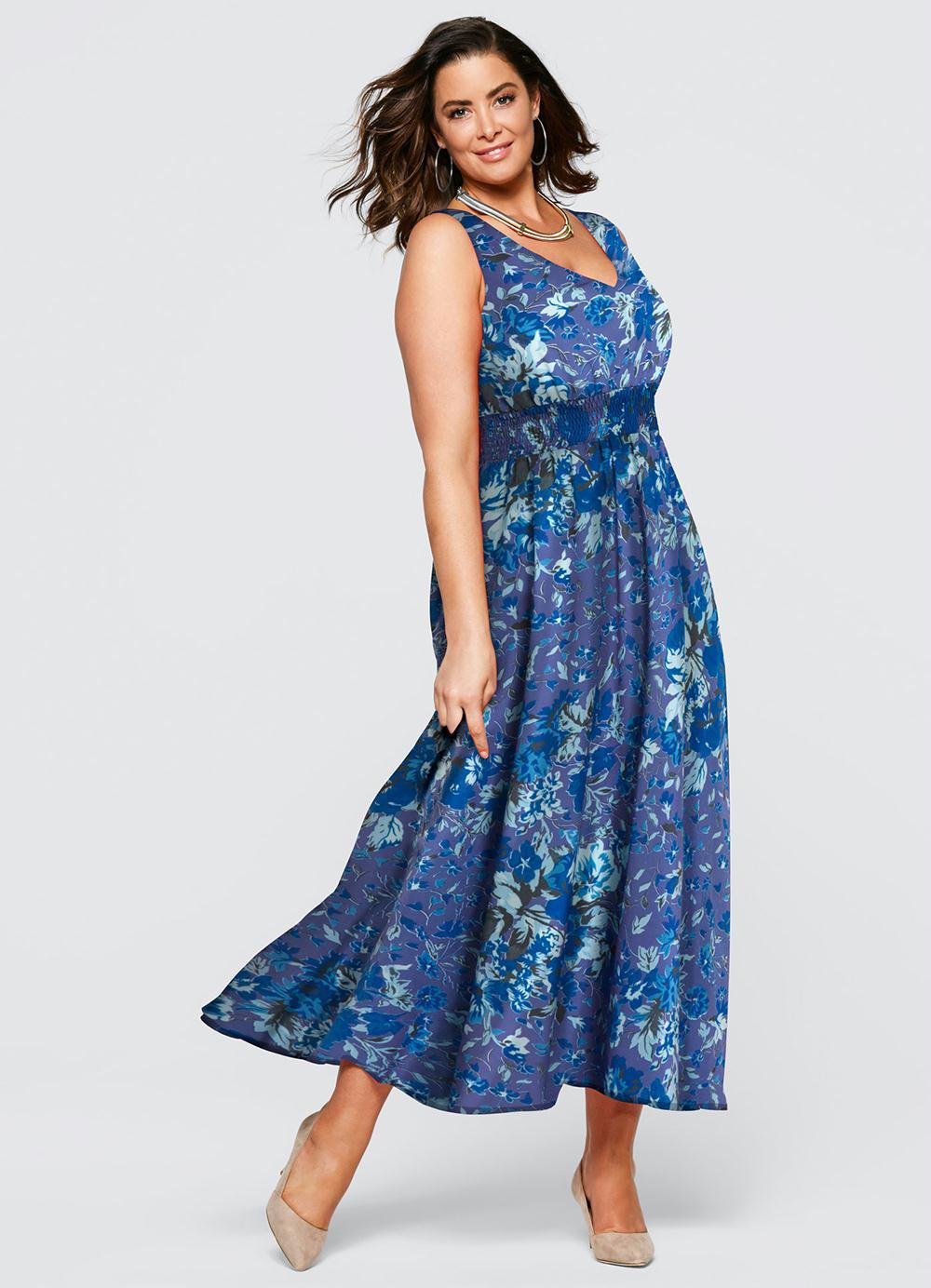 6282c2a00 Vestido Longo Estampado Azul - bonprix
