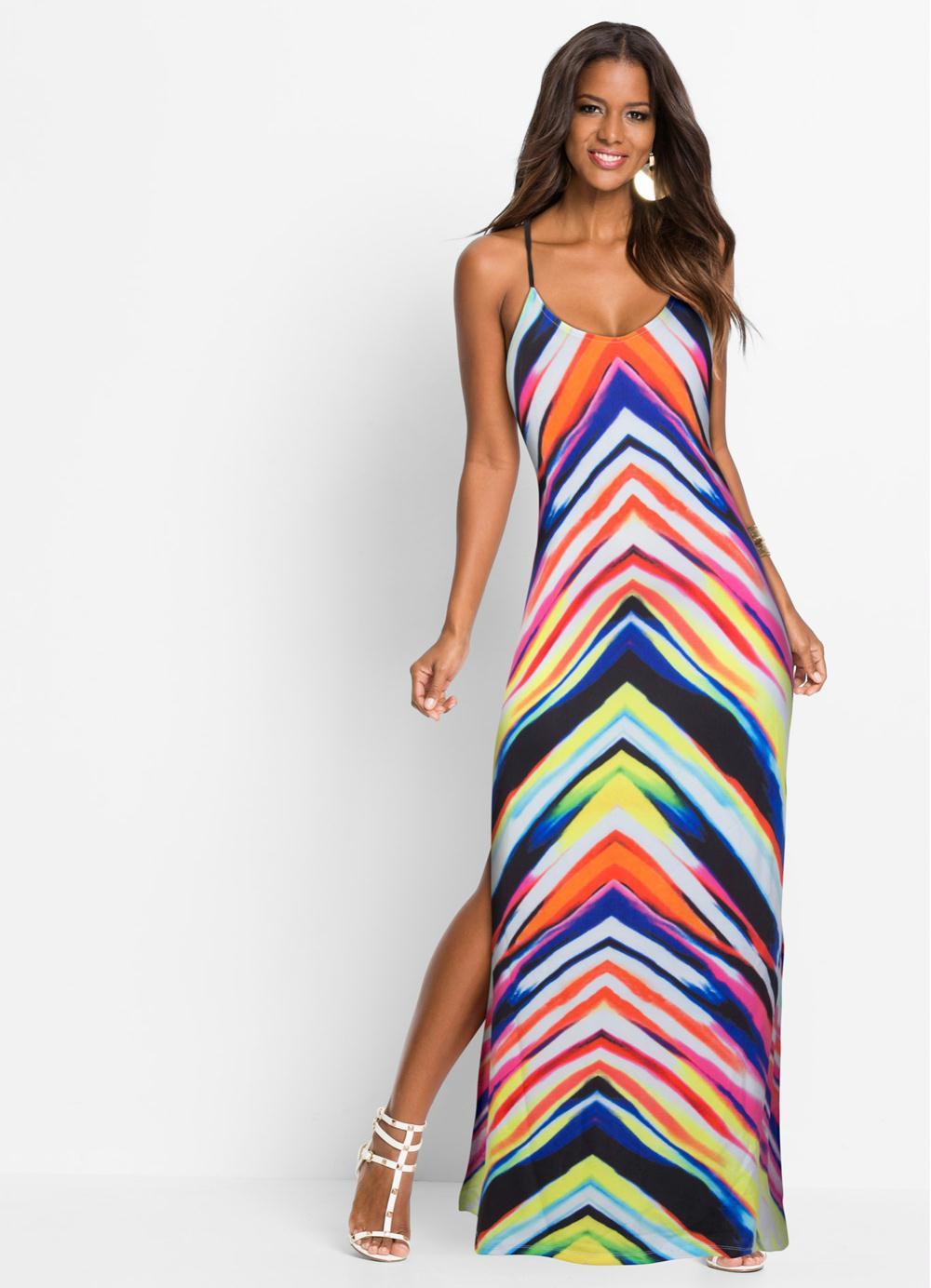 3f0a9576a Vestido Longo Estampado Multicolorido - bonprix