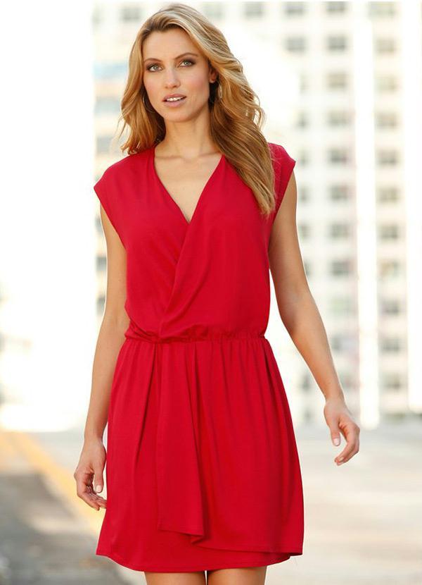 68ee3d05d Vestido de Malha Vermelho - bonprix