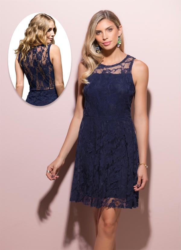 a405813367 Vestido renda com costas transparente marinho quintess jpg 600x830 Vestidos  renda azul