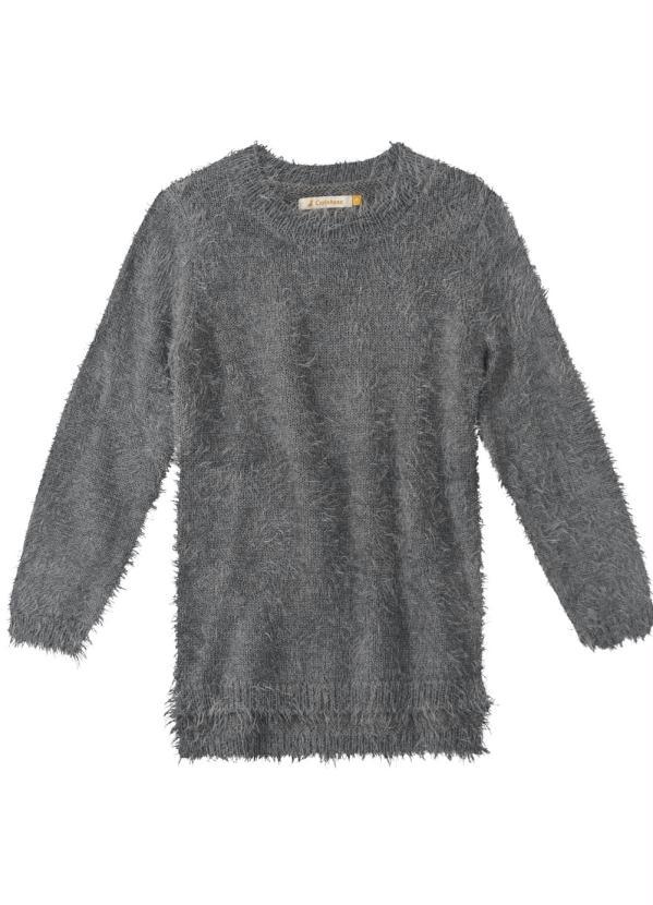 Carinhoso - Blusão Cinza em Lã
