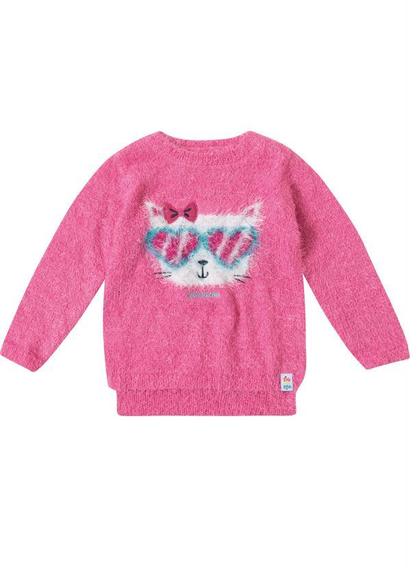 Zig Zig Zaa - Blusão Rosa Mullet Peluciado