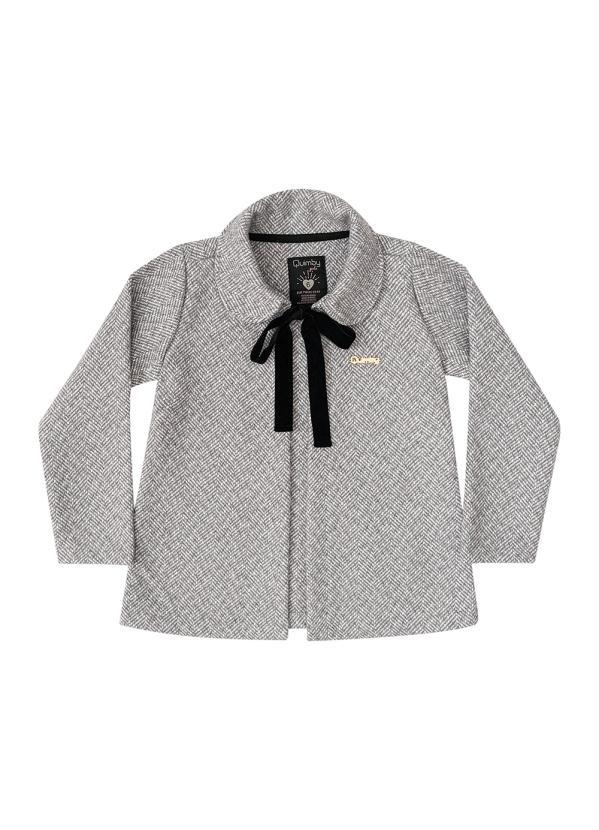 Quimby - Casaco Infantil em Tweed Cinza