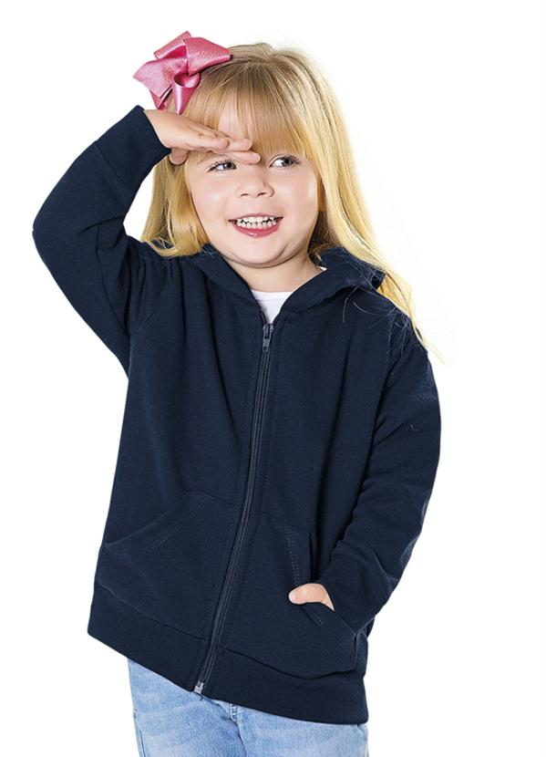 Fakini Kids - Jaqueta com Capuz Azul Every Day