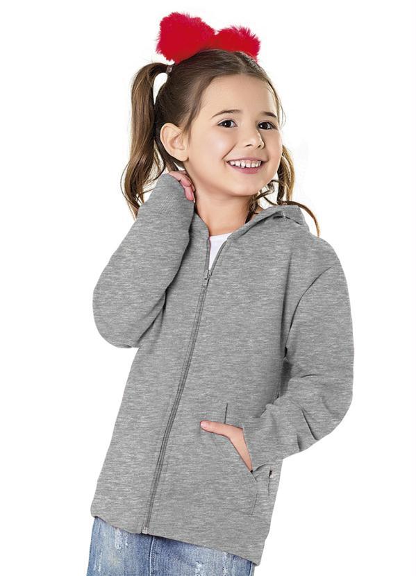 Fakini Kids - Jaqueta com Capuz Cinza Every Day