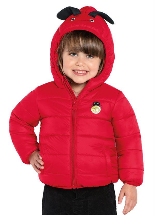 Trick Nick - Jaqueta Infantil com Assinhas e Capuz Vermelho