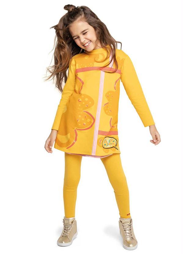 Lilica Ripilica - Vestido Amarelo Menina