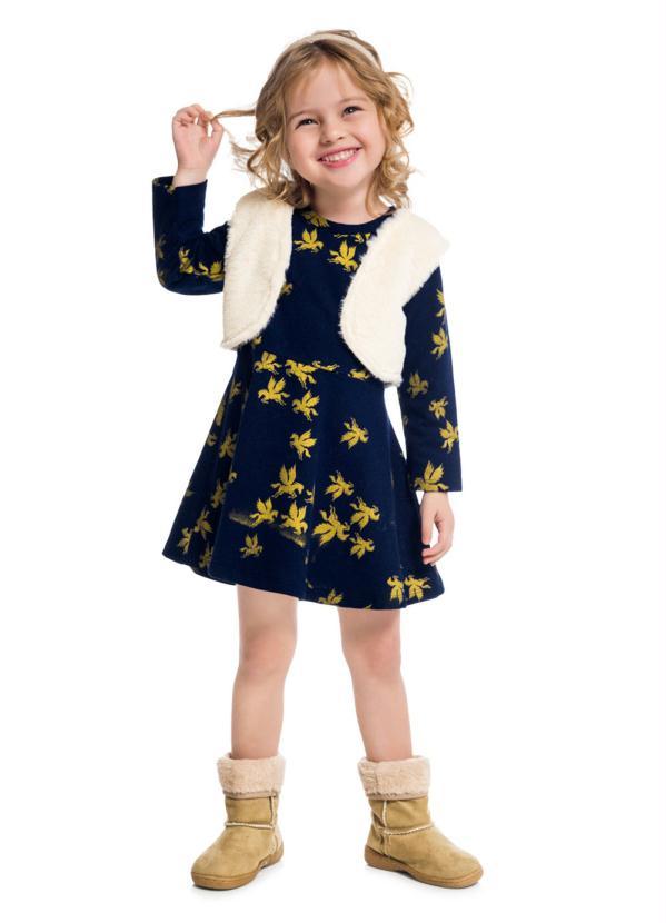 Kyly - Vestido Azul Marinho