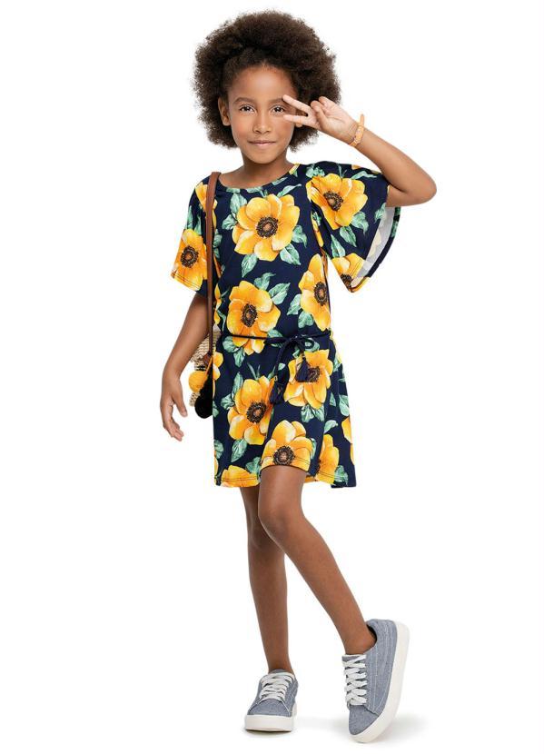 Nanai - Vestido Infantil Azul Marinho