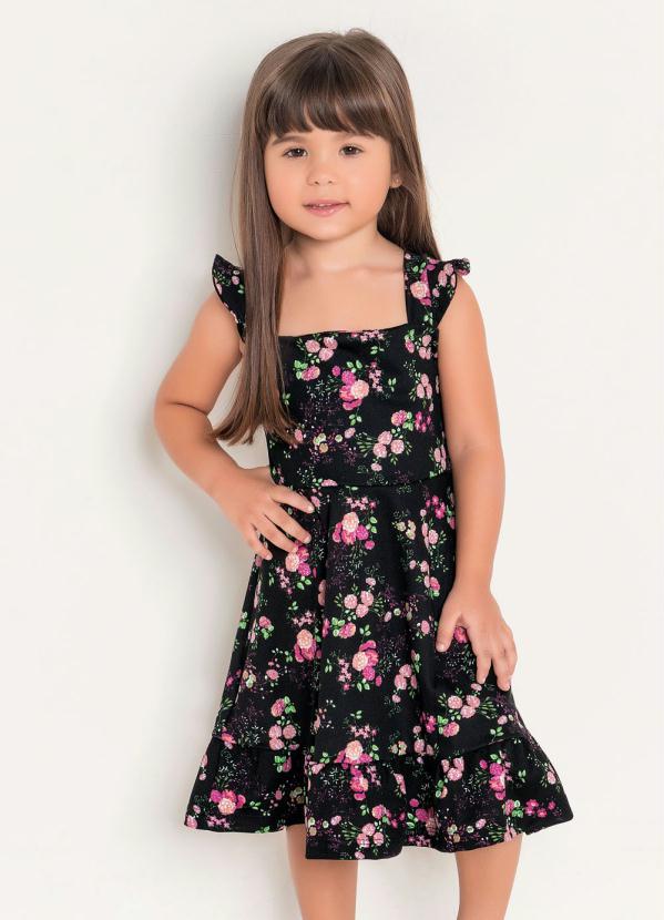 Rosalie - Vestido Infantil Floral Liberty Moda Evangélica