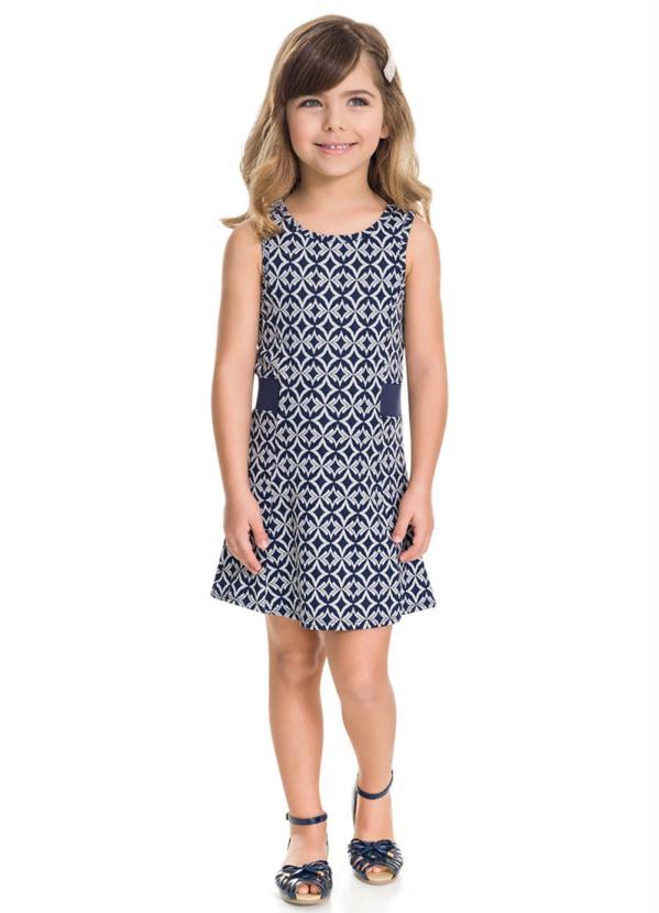 Milon - Vestido Infantil Marinho Milon