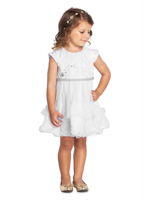 Trick Nick - Vestido Infantil Menina Branco
