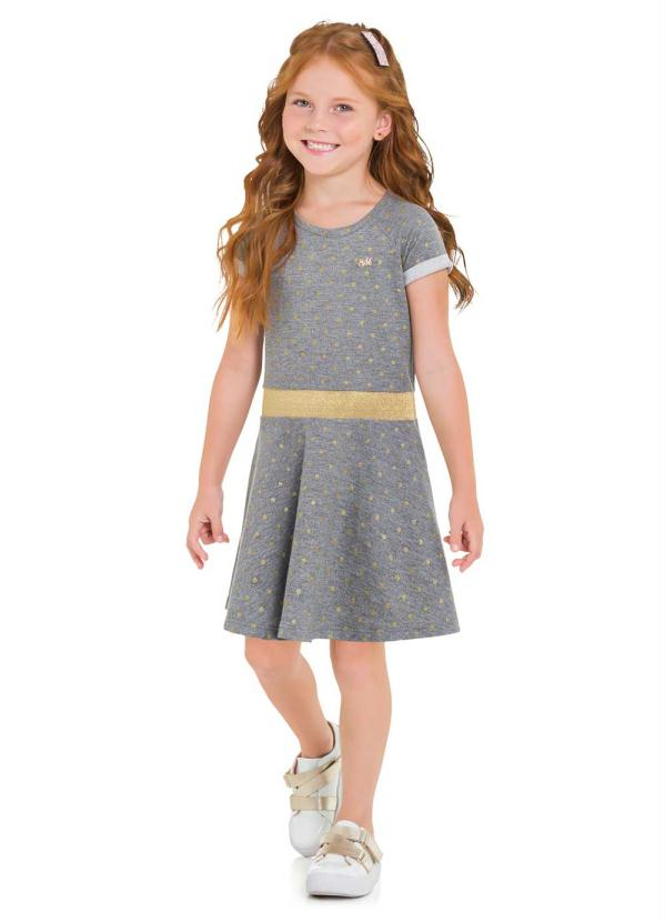 Milon - Vestido Infantil Mescla