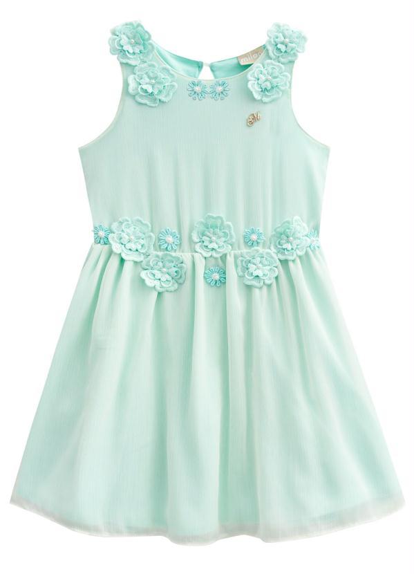 Milon - Vestido Infantil Verde