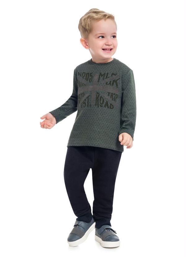 Milon - Conjunto Camiseta e Calça Verde