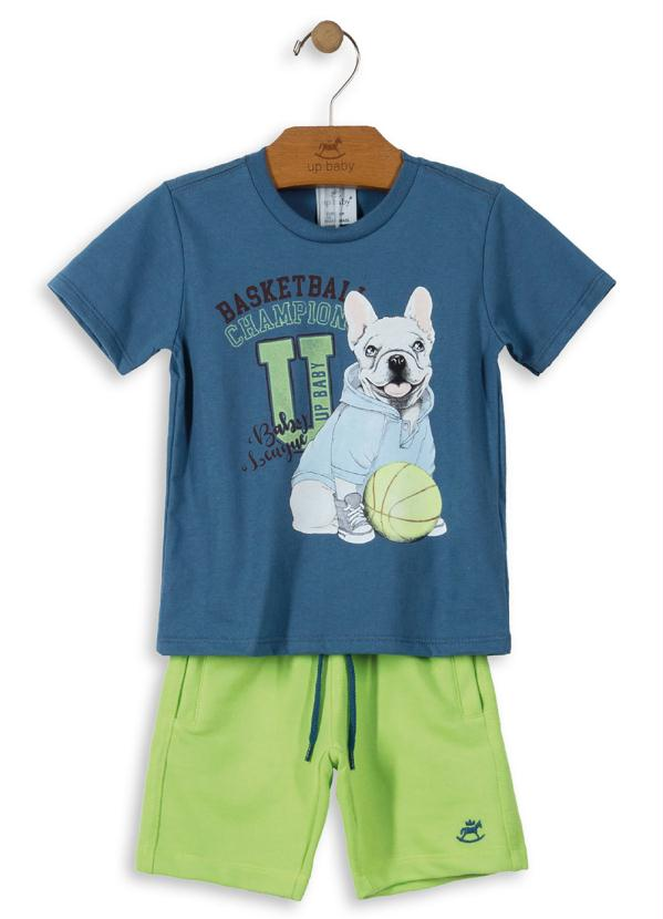Up Baby - Conjunto Camiseta e Bermuda Azul