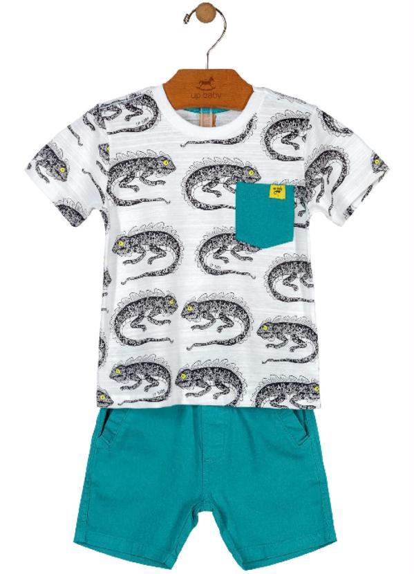 Up Baby - Conjunto Camiseta e Bermuda Branco